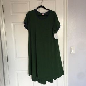 Brand new with tags Lularoe Carly dress green xl